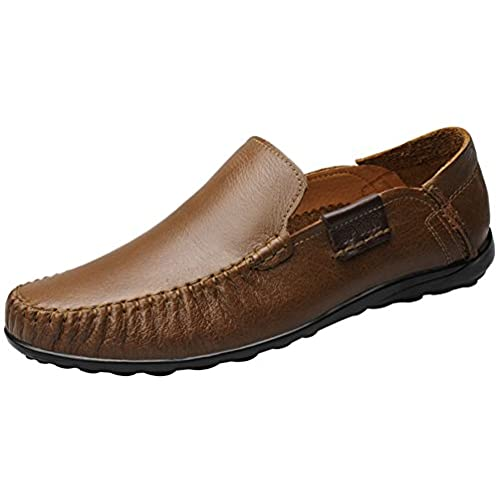 FJQY-9953 New Mens Casual Leather Slip On Leisure Smart Walking Driving Shoes