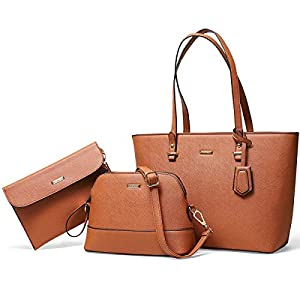 VATAN Women Fashion Handbags Shoulder Tote Bag Top Handle Satchel Purse Set 3pcs