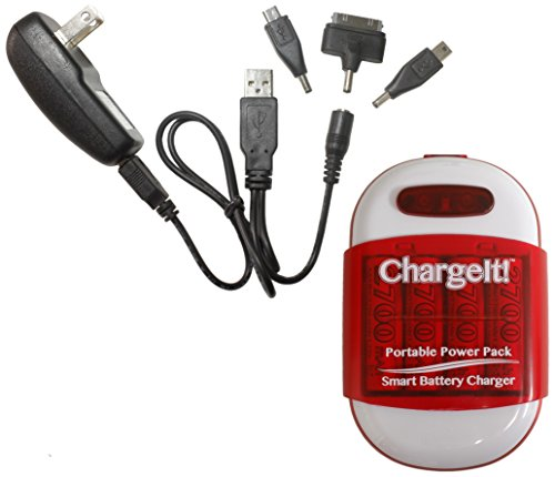 Digital Treasures ChargeIt Portable Power Pack for Smartphones - Retail Packaging - Red