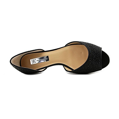 Inc International Concepts Mujeres Elsah Cuero Open Toe Diapositivas Pisos Negro W