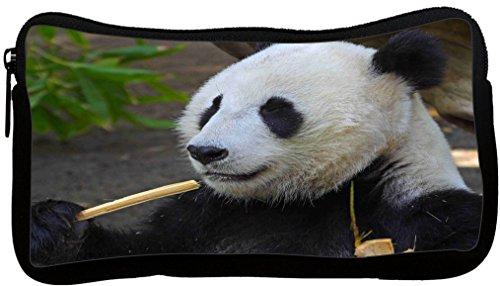 Rikki Knight Panda Face Close-Up Design Neoprene Pencil Case (pc273)