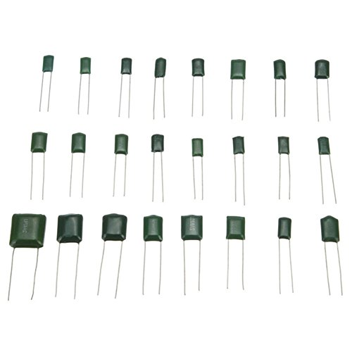 Ltvystore 660 PCS 24 Value 100V 0.22NF- 470NF Polyester Film Capacitor Assortment Kits with Clear Box by Ltvystore (Image #2)