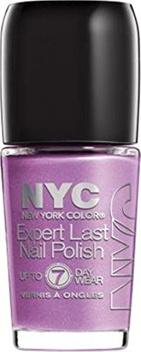 NYC Expert Last Nail Polish, up to 7 day wear, 255 Late Night Lilac., 0.33 fl oz (7 Day Nail Polish)