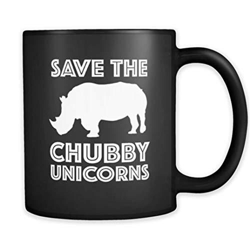 Save the Chubby Unicorns Mug Funny Unicorn Mug Funny Rhinoceros Mug Funny Rhino Mug Cute Unicorn Mug Chubby Unicorn Mug Animal Pun