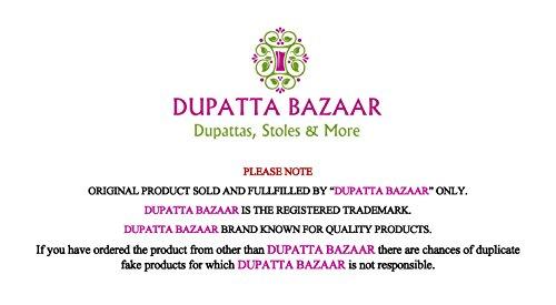 Dupatta-Bazaar-Indian-Casual-Red-Beaded-Chiffon-Dupatta-Scarf-ShawlChunni
