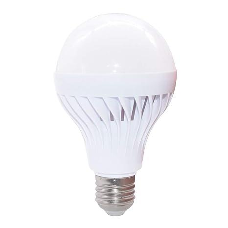Bombilla LED de luz de sonido E27 B22, ZZM 7 W PIR sensor por ...