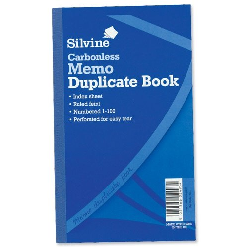 Print Invoices Excel Silvine Duplicate Book Carbonless Invoice  Xmm Ref   Example Of Commercial Invoice For Export with Certified Mail Return Receipt Requested Cost Pdf Silvine Duplicate Book Carbonless Memo  Xmm Ref  Pack Of  Typical Invoice