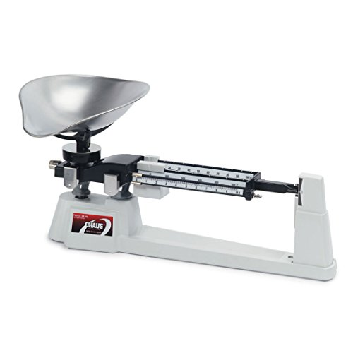 Ohaus 720-S0 Triple Beam Mechanical Balance with Stainless Steel Scoop, 610g Capacity, 0.1g Readability