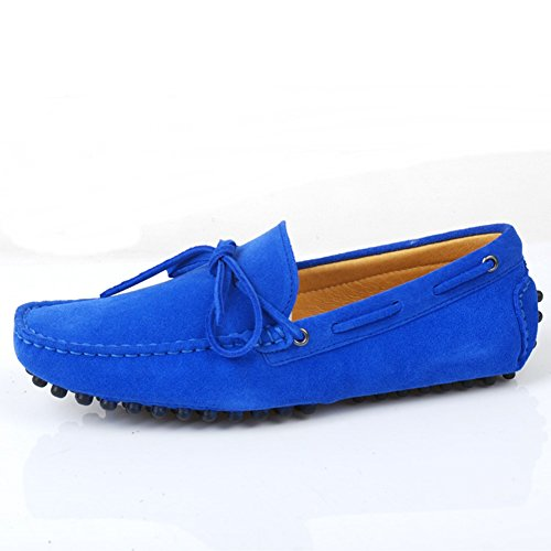 Blue Boat Comfort Leather Outdoor Low Nubuck Santimon Men's Shoes Casual Genuine Loafers Moccasin qw8CxWHS7