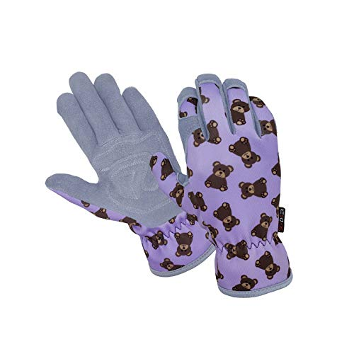 SKYDEER Deerskin Leather Suede Kids Gardening Gloves (SD6620)