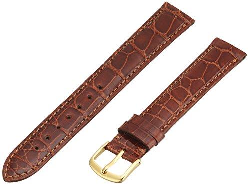 - Hadley-Roma Men's MS2007RR-170 17-mm Tan Genuine Alligator Leather Watch Strap