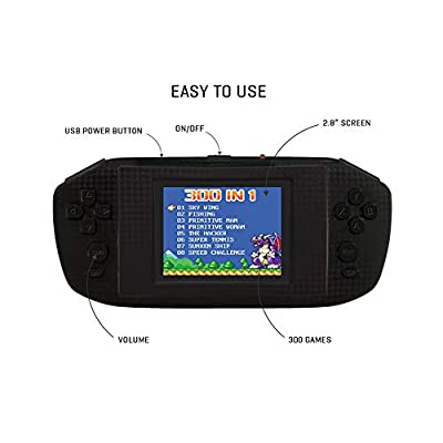 LEXiBOOK 300 Video Game Handheld Console - Black: Toys & Games