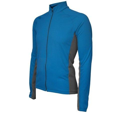 BDI Men's Whistler Long Sleeve Cycling Jersey, Blue/Charcoal