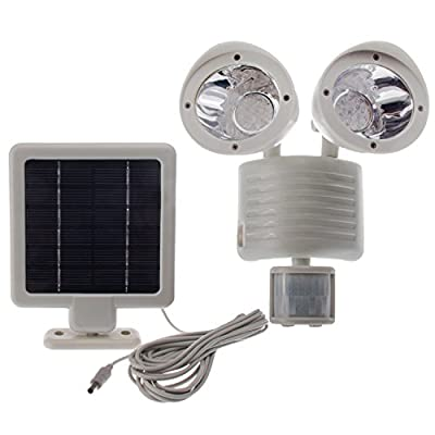 Solar Powered Motion Sensor Light 22 LED Garage Outdoor Security Flood Spot Light White
