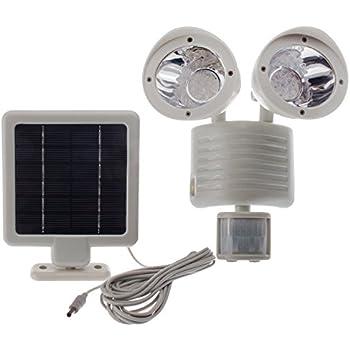 Solar Powered Motion Sensor Light 22 LED Garage Outdoor Security Flood Spot  Light White