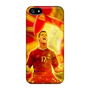 For AngelineMS Iphone Protective Case, High Quality For Iphone 5/5s Cristiano Ronaldo Skin Case Cover