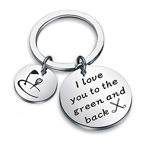 - Zuo Bao Golf Jewelry Golfer Gift I Love You to The Green and Back Keychain Gift for Golf Players (Keychain)