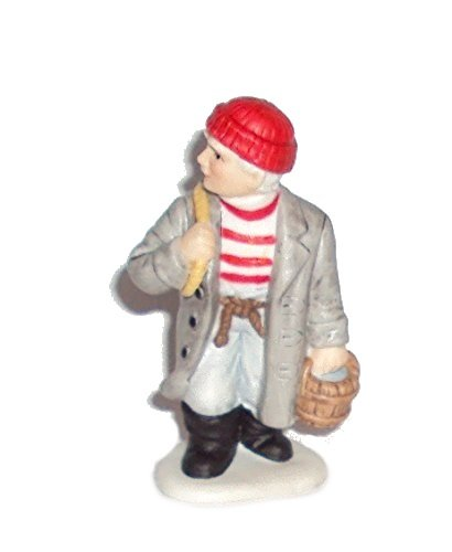 1996 Geo Z Lefton 10957 Colonial Village Figurine Fisherman Miniature