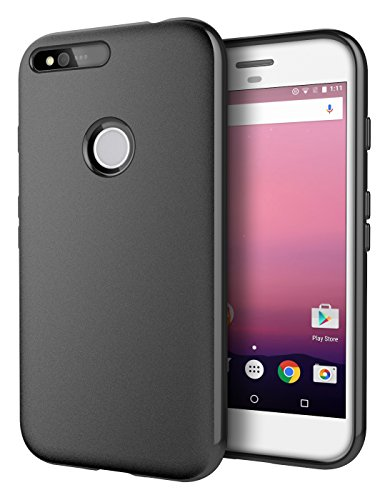 Google Pixel Case, Cimo [Matte] Premium Slim Protective Cover Google Pixel (2016) - Black
