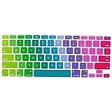 Rainbow Gradient Series Silicone Keyboard Cover Skin for MacBook Air 13, MacBook Pro 13 15 17