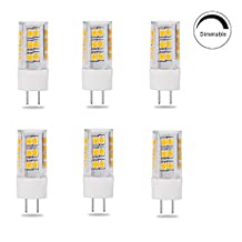 Saco Dimmable T4 G8 LED Halogen Replacement Bulb, 4.5W, 45W Equivalent, Warm White 2700K, 6-Pack(Oversize, Will Not Fit Puck Lights)