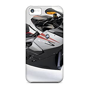 Iphone 5c Hard Back With Bumper Silicone Gel Tpu Case Cover Bmw K 1200 S White