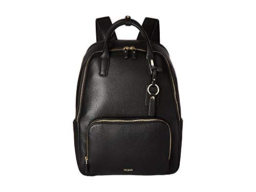 :TUMI - Stanton Indra Leather Laptop Backpack - 15 Inch Computer Bag for Women - Black/Gold