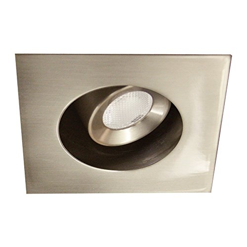WAC Lighting HR-LED272R-27-BN LEDme Mini 2-Inch Recessed Downlight - 20-Degree Adjustable From Vertical - Square Trim - 2700K by WAC Lighting (Image #4)