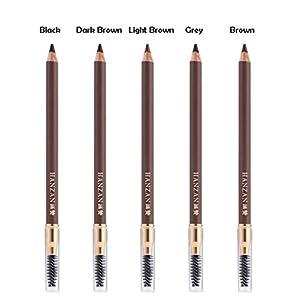 HanZan Eyebrow Pencil Longlasting Waterproof Durable Automaric Liner Eyebrow 5 Colors to Choose (5# Brown)