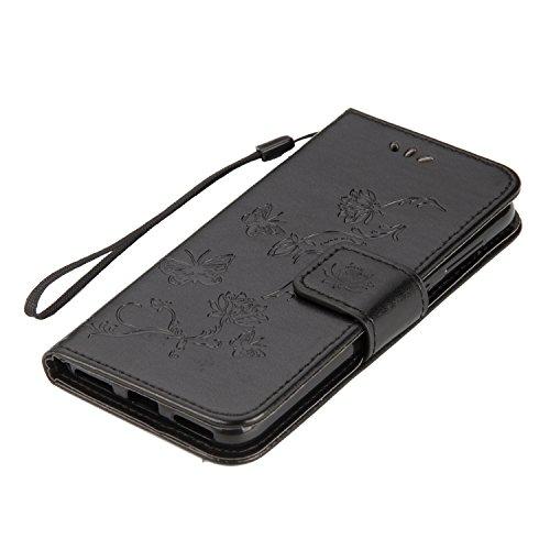 Honor Cover Honor Case Flip Fleur de Etui pour 9 Homme Femme Papillon Protection Lite Housse en 9 Huawei Ultra Huawei Fille 9 Huawei Herbests Noir Honor Coque ¨¤ R Coque Lite pour de Relief Lite Etui Mince 5RxZnS1W6q
