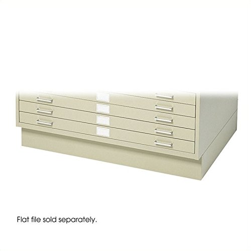 Safco Products 4995TSR Flat File Closed Base for 5-Drawer 4994TSR Flat File, sold separately, Tropic Sand