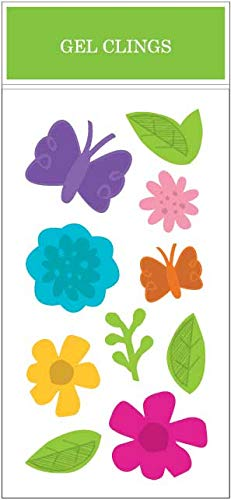 Impact Innovations Hoppy Flowers & Butterflies Window Gel Clings, 5.5