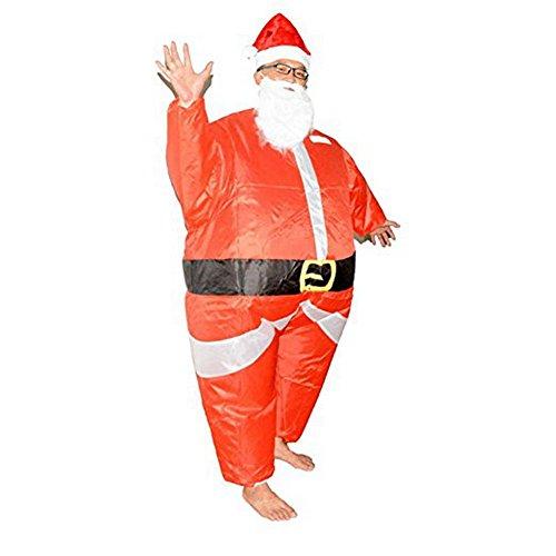 EQUICK Inflatable Costume Santa Claus Deer Riding Dress Christmas Decration Suit Funny Dinosaur Unicorn Party Cosply 02adult Santa