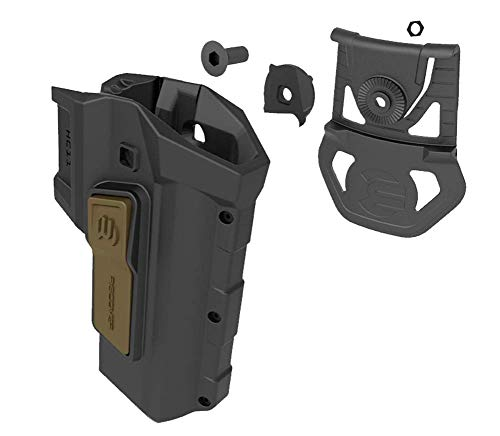(Recover Tactical 2 Tone HC11 Active Rention Universal Accessory Fit 1911 Holster for The CC3H & CC3P Grip & Rail System - Right Hand)