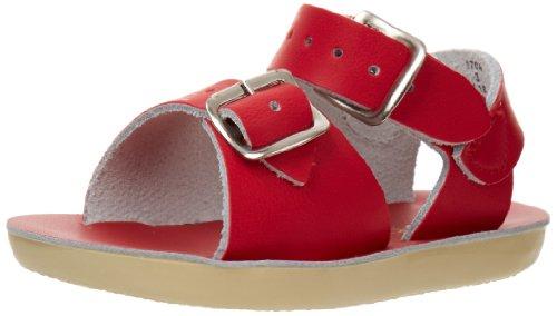 Salt Water Sandals by Hoy Shoe Sun-San Surfer,Red,9 M US Toddler