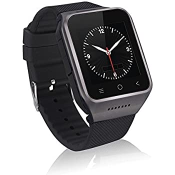 ZGPAX S8 Android 4.4 Dual Core Smart Watch Phone,1.54inch LG Multi-point Touch Screen,3G WCDMA,Bluetooth 4.0,Bulit-in GPS,2M Camera (Black)
