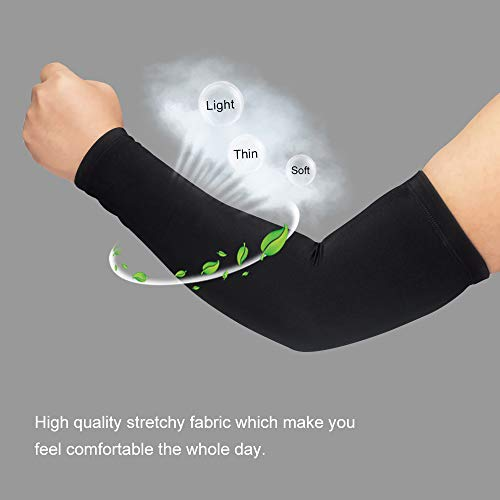 a67bff2a90 HuiYee Compression Arm Sleeves Cooling Sun Protection Arm Cover with  Anti-Slip Design for Outdoor