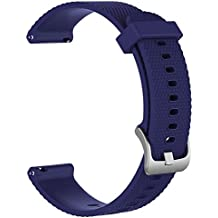 Small Replacement Silicone Rubber Bands Watch Straps - Choice of Color Width (20mm) - Premium Accessory Wristbands Colorful Sports Bracelet Comfortable Flexible Flex Watch Bands, 1pc B