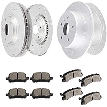Front and Rear Brake Discs Rotors /& Ceramic Pads For 2001-2005 Lexus GS430 5Lugs