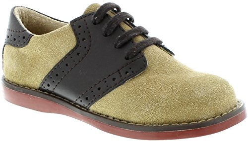 FOOTMATES Boy's Connor Saddle Dirty Buck/Brown - 8465/13 Little Kid M/W