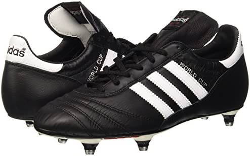 adidas World Cup FG Firm Ground Mens Football Boot Black/White - UK 11.5