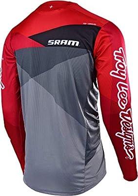 Troy Lee Designs Sprint Jet Ltd Ed SRAM LS Bike Jersey Grey//Red 2019