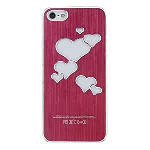 JOEHeart Shaped Colorful LED Flash Light Hard Case Cover For iPhone 5/5S