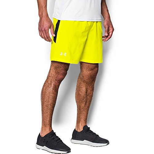 Under Armour Men's Launch 7'' Shorts, Yellow Ray /Reflective, Large (Shorts Stretch Yellow)