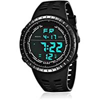 Mens Digital Sport Watch, Military Black Watches, Army...