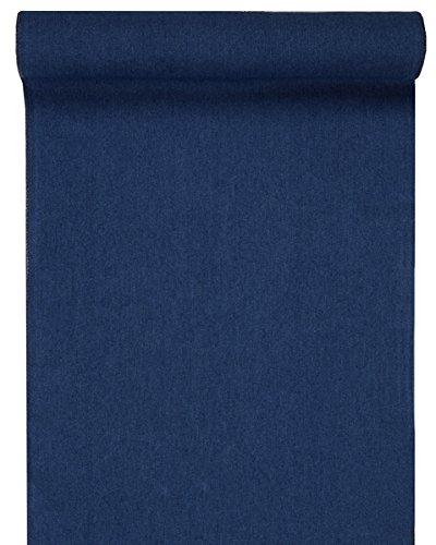 SANTEX 5196-8-28 Bleu fonc/é Chemin de Table Jean