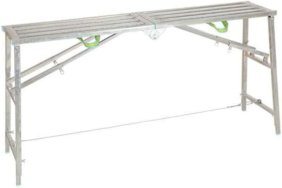 RENJUN - Escalera plegable multifunción para caballo, diseño de andamios y andamios de ingeniería de tubo cuadrado con plataforma de doble polo, escalera engrosamiento de decoración (tamaño: 180 cm)