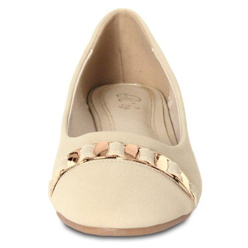donna Fashion beige CASPAR Beige Ballerine 0EwqX