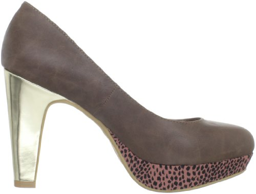 Jellypop Mujeres Michelle Platform Pump Taupe Smooth