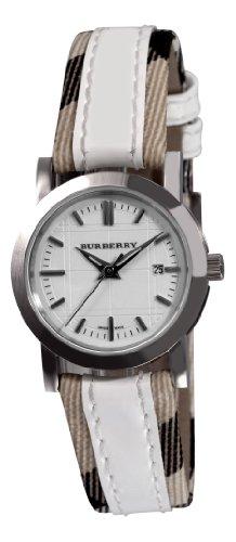 Burberry Women's BU1395 Round 3-Hand Date White Dial Watch